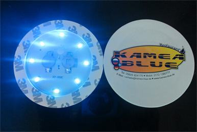 EVA+PCB material 8led bottle sticker led bottle pads
